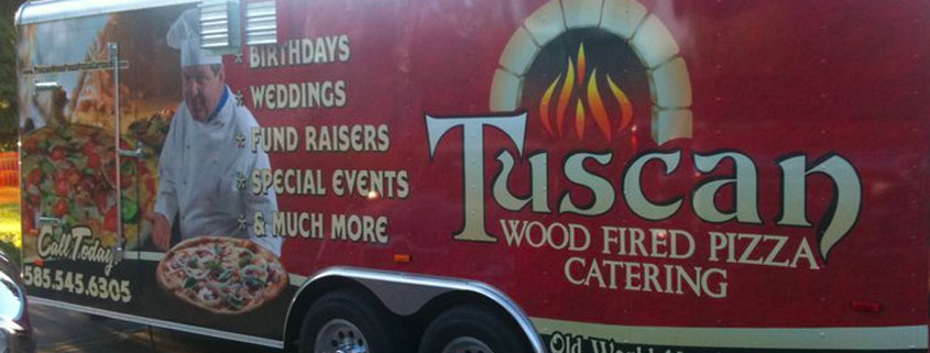 Wutsupbuffalo tuscan wood fired pizza at buffalo untapped for Flaming fish food truck